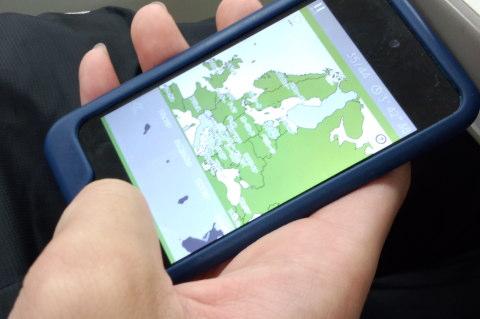 地図パズルアプリ